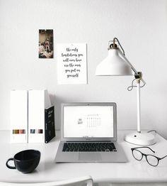 White home office inspiration | Inspiração de escritório branco