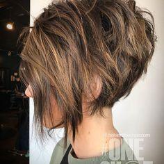 Texture for days! Using @donaldscottnyc tools to help achieve this look . . . #behindthechair #btconeshot_shortcut18 #btconeshot_boblob18 #btconeshot_curls18 #licensedtocreate #cosmoprofbeauty #donaldscottnyc #utahsalon #ogden #foilyage #texturedbob