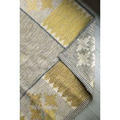 Midcentury flat weave carpet or rölakan signed BA. #foundbyhowe Swedish c.1950.