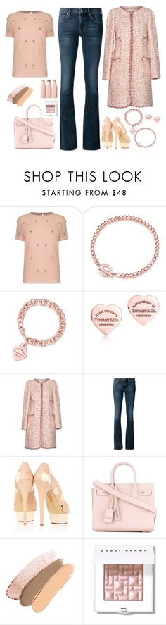 """""""Sans titre #498"""" by carolinesaracosa77 on Polyvore featuring mode, Ted Baker, Tiffany & Co., Edward Achour, Citizens of Humanity, Charlotte Olympia, Yves Saint Laurent, Bobbi Brown Cosmetics et Sephora Collection"""