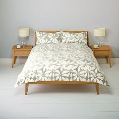 Buy Natural John Lewis Floral Duvet Cover and Pillowcase Set, Double set from our Duvet Covers range at John Lewis. John Lewis Duvet Covers, Two Bedroom, Bedroom Decor, Bedroom Ideas, Single Duvet Cover, Duvet Sets, Linen Bedding, Bed Linen, Pillow Cases