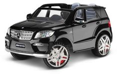Your young sport SUV fan can roll stylishly in the Avigo Mercedes 12 Volt Powered Ride On - Black. With tons of authentic Mercedes-Benz details, a sleek black paint .