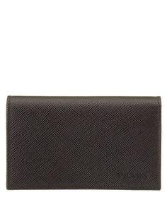 PRADA Prada Saffiano Leather Flap Credit Card Holder'. #prada #wallets