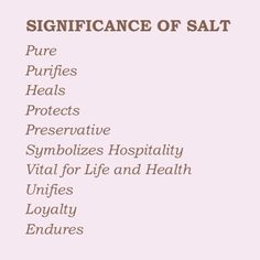 The significance of salt in witchcraft and Wicca