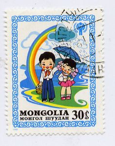 Un sello de Mongolia