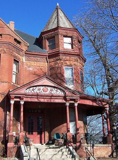 Dates to In the Museum Hill Historic District, National Register Architecture People, Victorian Architecture, Historical Architecture, Amazing Architecture, Architecture Details, Classic Architecture, Victorian Style Homes, Edwardian House, Victorian Houses