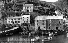 Polperro, The Harbour 1960.
