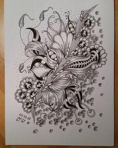#tangle #Zentangle #ZIA #doodle #doodleart #tangled #zendoodle #zentangleinspiredart #doodles #zentangleart #зенарт #дудлинг Tangle Doodle, Tangle Art, Zen Doodle, Doodle Art, Doodle Patterns, Zentangle Patterns, Doodle Designs, Zentangle Drawings, Doodles Zentangles