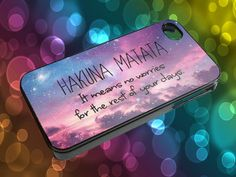 HAKUNA MATATA IT MEANS NO WORRIES AX for iPhone 4/4s,5/5s/5c, Samsung Galaxy s3/s4 Case