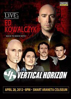 Vertical Horizon returns to Manila this Summer back to back with LiVE's Ed Kowalczyk! Vertical Horizon, Limp Bizkit, Love The 90s, Rock Sound, Bald Hair, Pop Rocks, Manila, Britney Spears, Justin Bieber