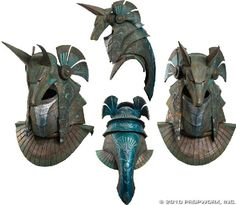 Anubis helmet of the type which was worn by Ra's First Prime in the Stargate feature film