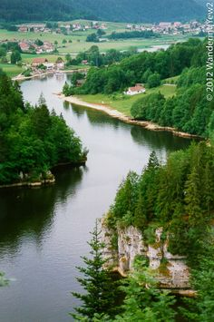 Doubs River at the Switzerland/France border