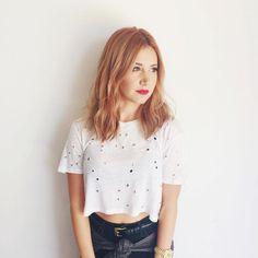 Ashlee Tisdale  strawberry blonde