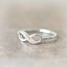 Infinity Ring in silver. $15.00, via Etsy.