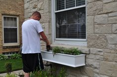 Awesome window box tutorial from here: http://justourlovelylife.blogspot.com/2011/06/window-boxes.html