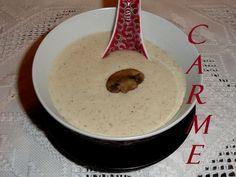Salsa de champiñones para guarnición. Ver la receta http://www.mis-recetas.org/recetas/show/39140-salsa-de-champinones-para-guarnicion