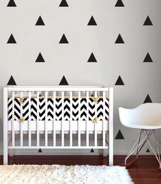 Triangles WALL DECAL by TheLovelyWall on Etsy, $15.00 inspired by Danielle Oakey Interiors @Danielle Oakey Interiors