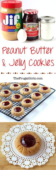 Peanut Butter Jelly Cookie Recipe! ~ from TheFrugalGirls.com ~ pb and j isn't just for sandwiches... it's also ridiculously delicious as a cookie!  These sweet little Thumbprint Cookies are perfect for your holiday parties and Christmas Cookie Exchanges, too! #recipes #thefrugalgirls