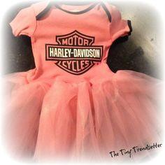 Biker Baby/Genuine Harley Davidson Baby Girl by TheTinyTrendsetter