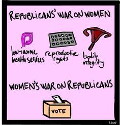 Republicans' War on Women vs. Women's War on Republicans