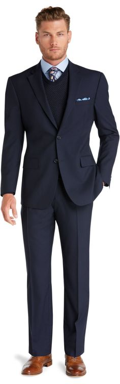 Check this out! Executive 2-Button Wool Suit with Pleat Front Trousers from JoS. A. Bank Clothiers. #JosABank