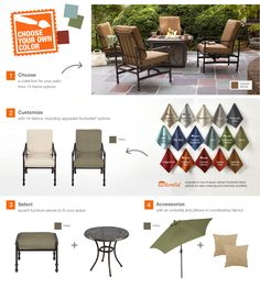 Hampton Bay Niles Park Patio Lounge Chairs With Cashew Cushions 2 Pack ChairsHome DepotLoungesCushions