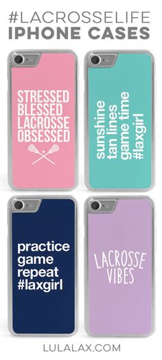 Celebrate the #lacrosselife with our new iPhone cases! The perfect gift for your lax girl.