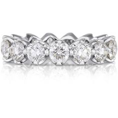 Allegria Eternity Band 0.25ct ($22,000) ❤ liked on Polyvore featuring jewelry, rings, band jewelry, band rings, round ring, eternity band ring and eternity rings