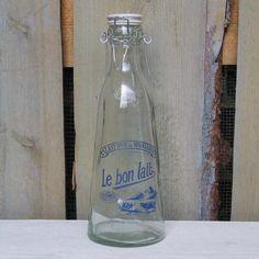 a vintage milk bottle
