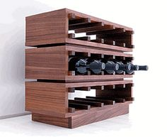 a touch modern for our rustic little cottage but i really like it Cool Wine Racks, Unique Wine Racks, Modern Wine Rack, Wine Display, Bottle Rack, Bottle Opener, Wine Cabinets, Italian Wine, Wine Racks