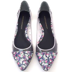 Rebecca Minkoff Floral Leather Flat Leather and vinyl upper. Easy slip-on wear. Pointed-toe silhouette. Man-made outsole. Measurements: Heel Height: 1/2 in. Brand New, w/box & dust bag. 1st/4th pics were taken by me and are of the actual shoes for sale. NO TRADES!!! Rebecca Minkoff Shoes Flats & Loafers
