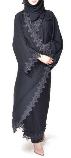 Abaya with lace