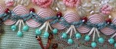 Cool idea of bead embroidery on rick-rack for crazy quilting.
