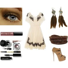 51, created by bribaby0611 on Polyvore. Personally, I would skip all the accessories. The dress is beautiful!
