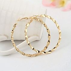 LAPRAPHA Earings Fashion Exaggerated Ruili Fashion Boutique Hoop Gold Earring For Women * Want to know more, click on the image.