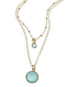 Athena Designs Sea Green Moonstone Necklace #maxandchloe