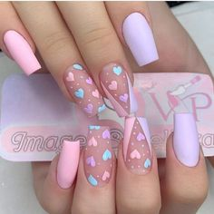 Edgy Nails, Trendy Nails, Swag Nails, Bling Nails, Acrylic Nails Coffin Pink, Pink Nail Art, Colorful Nail Art, Gold Glitter Nails, Simple Acrylic Nails