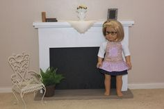 """FINALLY!!       We have a fireplace!!!!   I've been working on this since Thanksgiving...   It has been """"built"""" since December,   """"painted..."""