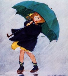Jessie Willcox Smith- Umbrella.