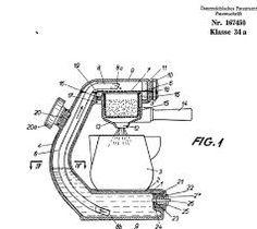 engineering drawings  Giordano Robbiati famous Atomic coffee makers