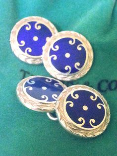 TIFFANY & CO. Cuff Links  Sterling Silver by STUNNINGCOLLECTIBLES
