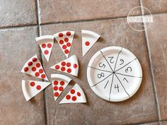 pizza-math-activity-preschool-fun-homeschool-practice-numbers Help kids practice counting and number recognition with this fun, hands on Pizza Counting Activity. This is great for preschool and kindergartners. Preschool Learning Activities, Preschool At Home, Preschool Lessons, Preschool Classroom, Preschool Crafts, Toddler Activities, Crafts For Kids, Motor Activities, Summer Themes For Preschool