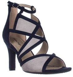 Rialto Ria Strappy Dress Heel Sandals, Midnight.