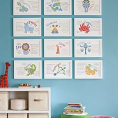 Serena & Lily Zodiac Art Prints