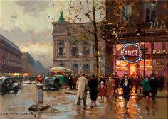 Edouard Leon Cortes  Place de l'Opera, Paris