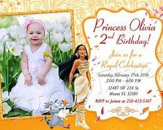 Princess Belle Invitation Birthday Princess Belle by LuckyPixel Princess Belle Party, Princess Birthday, 2nd Birthday, Pocahontas Birthday Party, Brooches Handmade, Handmade Gifts, Mixed Media Jewelry, Pink Tone, Digital Invitations