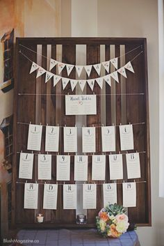 Rustic Wedding at The Hanger in Fort Edmonton. Rustic Wedding, Seating Chart, Rustic Seating Chart, Unique Seating Chart