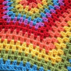 #rainbow #granny hex star #ripple