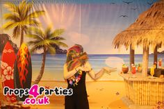 Perfect backdrop for your Hawaiian themed party. Transform your venue into a tropical paradise. Team with our themed banners and you are ready to party. In stock and available to hire now! Hawaiian Party Decorations, Hawaiian Decor, Party Props, Party Themes, Diy Photo Booth, Party Banners, Colorful Party, Backdrops For Parties, Scene Photo