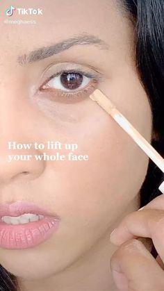 Makeup Hacks Videos, Makeup Tricks, Makeup Tutorials, Makeup Eye Looks, Eye Makeup, Dewy Skin Makeup, Beauty Makeup, Natural Everyday Makeup, Natural Makeup